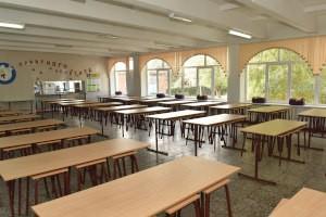 Проведение дезинфекция в школьной столовой